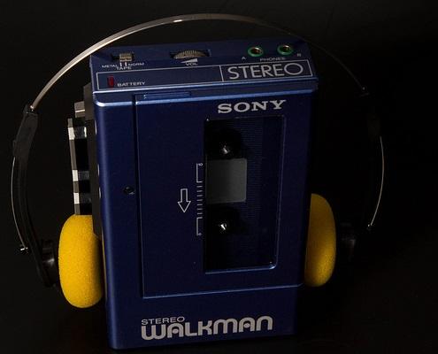 foto van een sony walkman