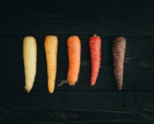 foto van verschillende wortels